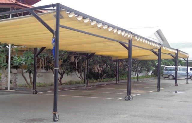 Mái xếp bạt – Mái hiên di động