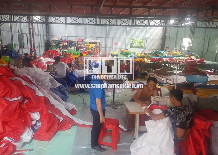 Quy trình sản xuất dù sự kiện – Công ty TNHH Sản xuất TM & DV Thùy Linh