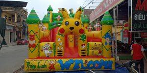 nhà hơi lâu đài Pikachu dễ thương