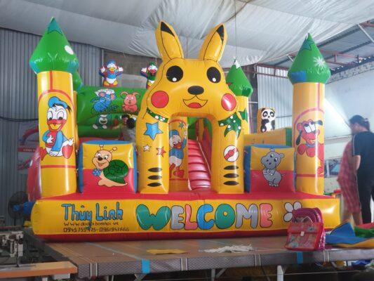 Nhà hơi. nhà phao lâu đài Pikachu